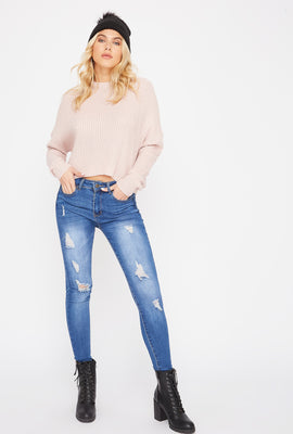 High-Rise Distressed Skinny Jean