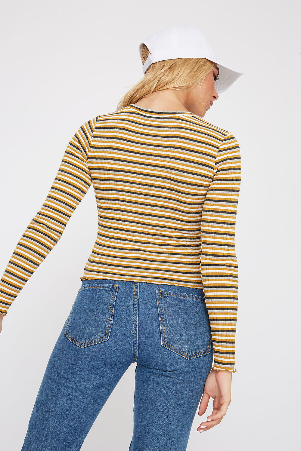 Striped Long Sleeve Mustard