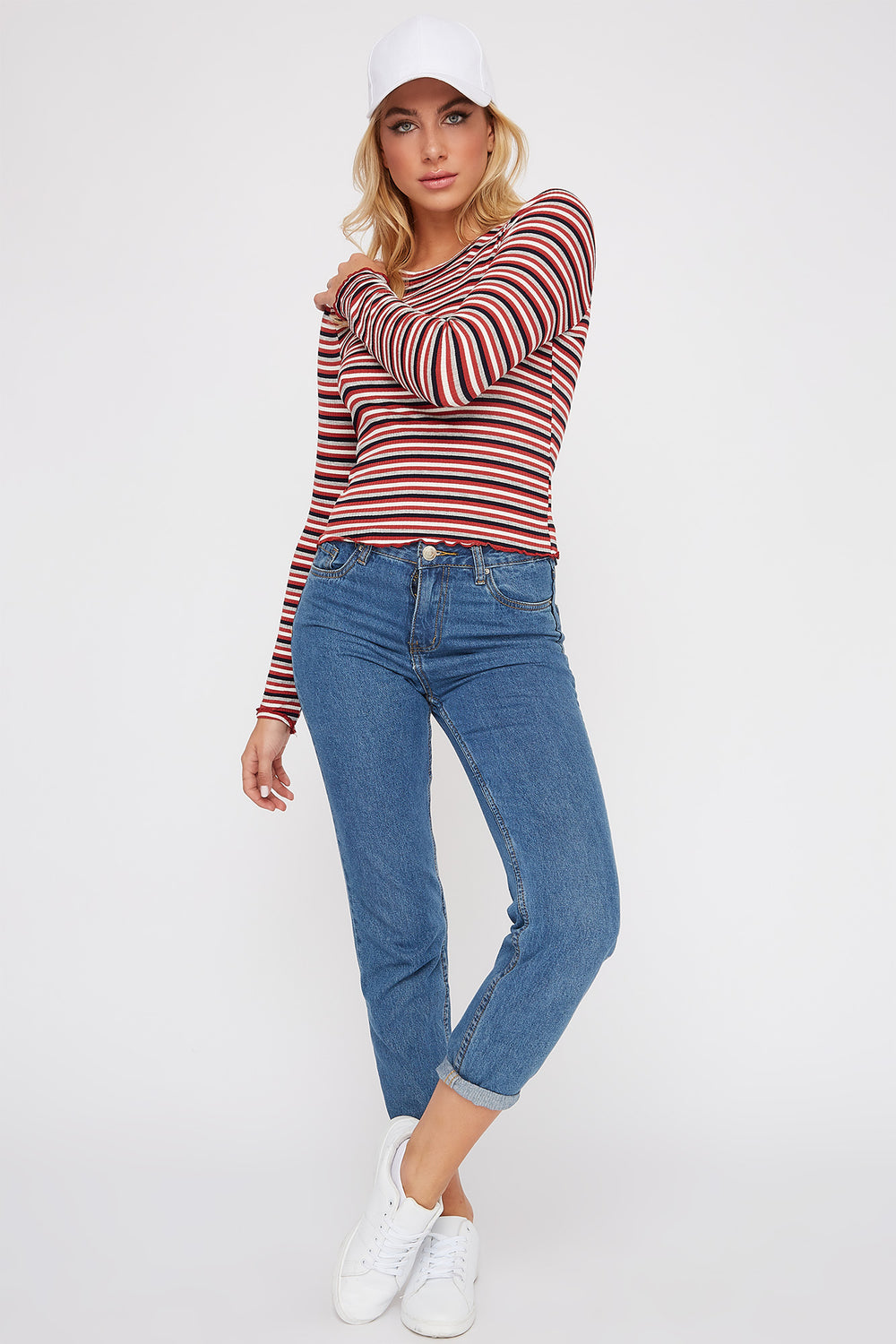 Striped Long Sleeve Rust