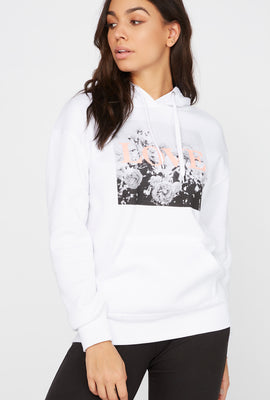 Fleece Graphic Boyfriend Hoodie