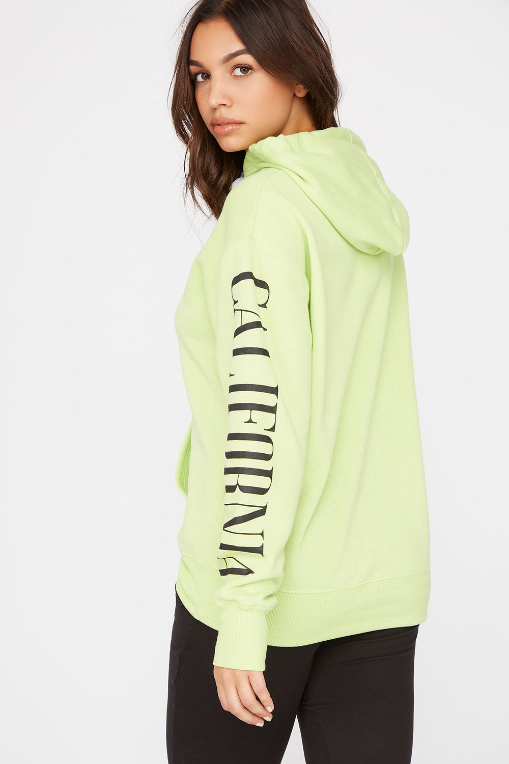 Graphic Best Ever Hoodie Neon Green