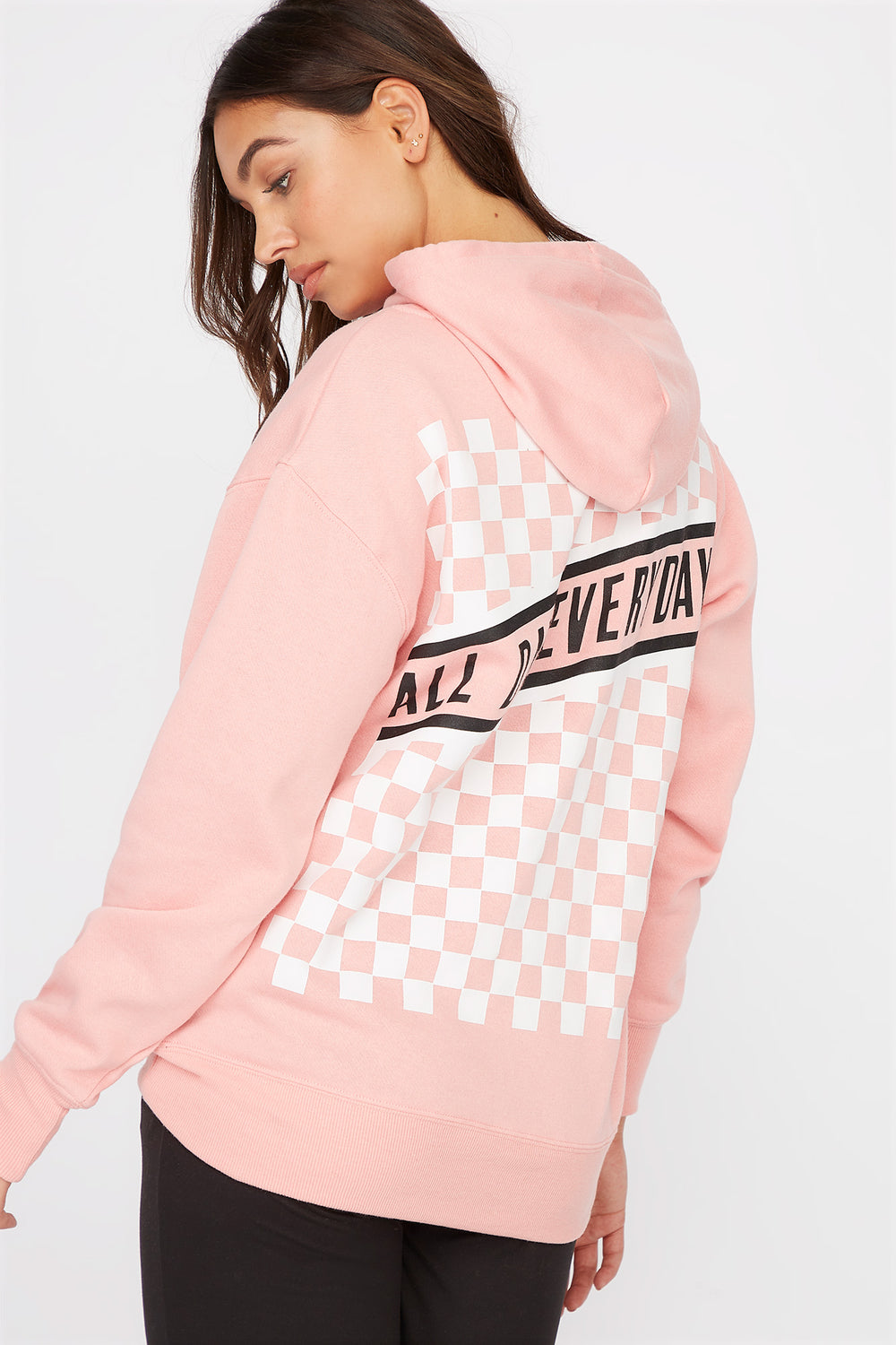 Graphic Best Ever Hoodie Pink