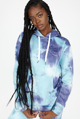 Best Ever Fleece Tie Dye Graphic Angel Hoodie