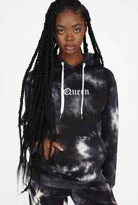 Best Ever Fleece Tie Dye Graphic Queen Hoodie