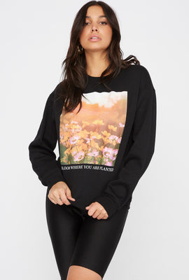 Bloom Where You Are Planted Crew Neck Sweater