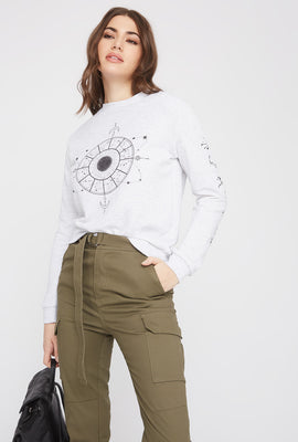 Graphic Astrology Crew Neck Sweatshirt