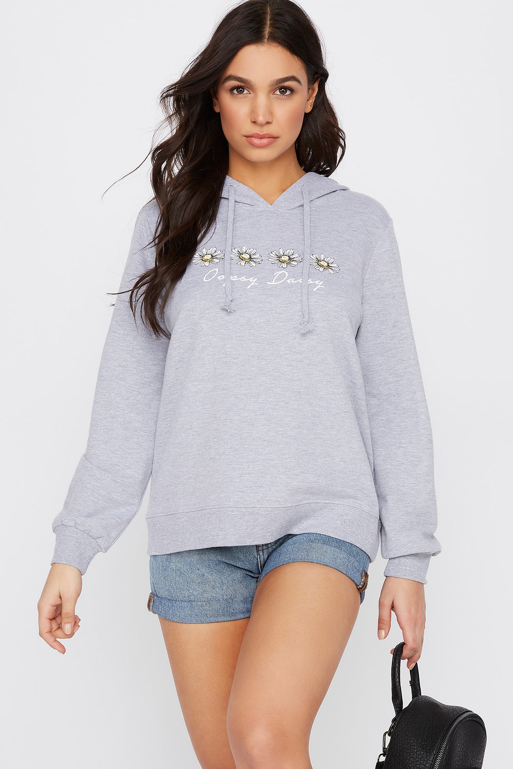 Graphic Oopsy Daisy Hoodie Heather Grey