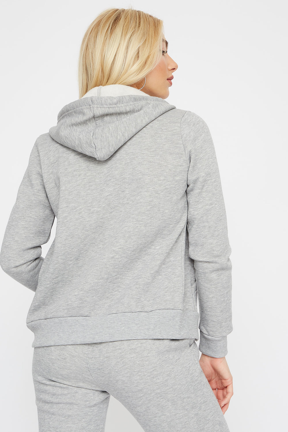 Classic Zip-Up Hoodie Heather Grey