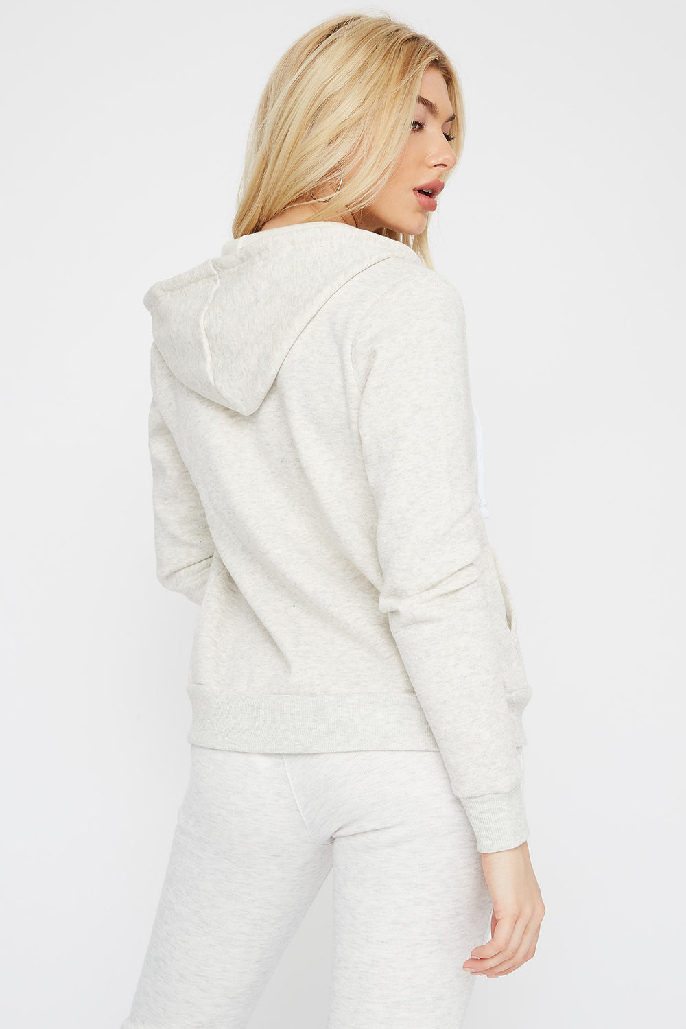 Classic Zip-Up Hoodie Natural