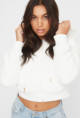 Faux-Fur Zip-Up Hoodie