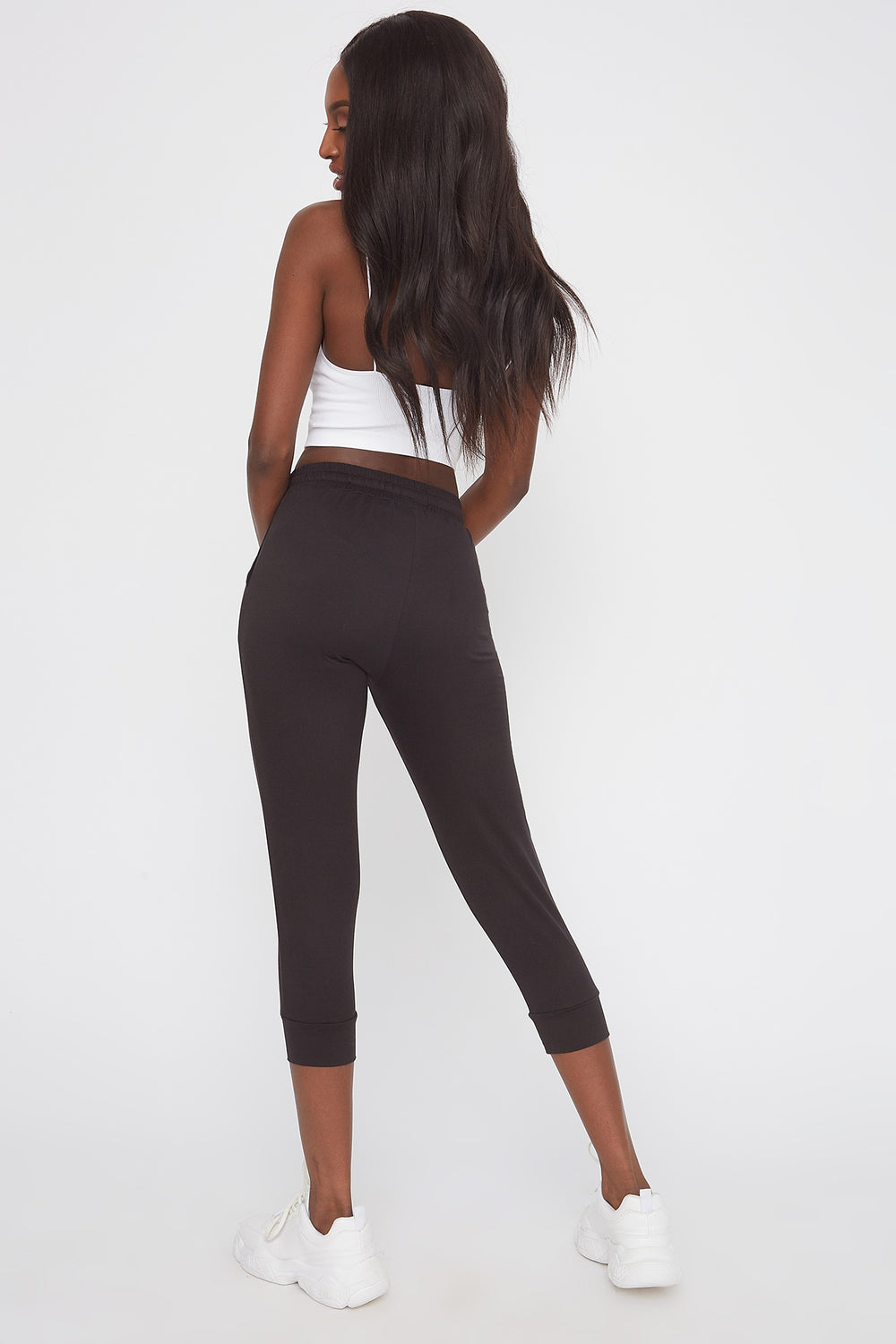 Pantalon de jogging court super doux Noir