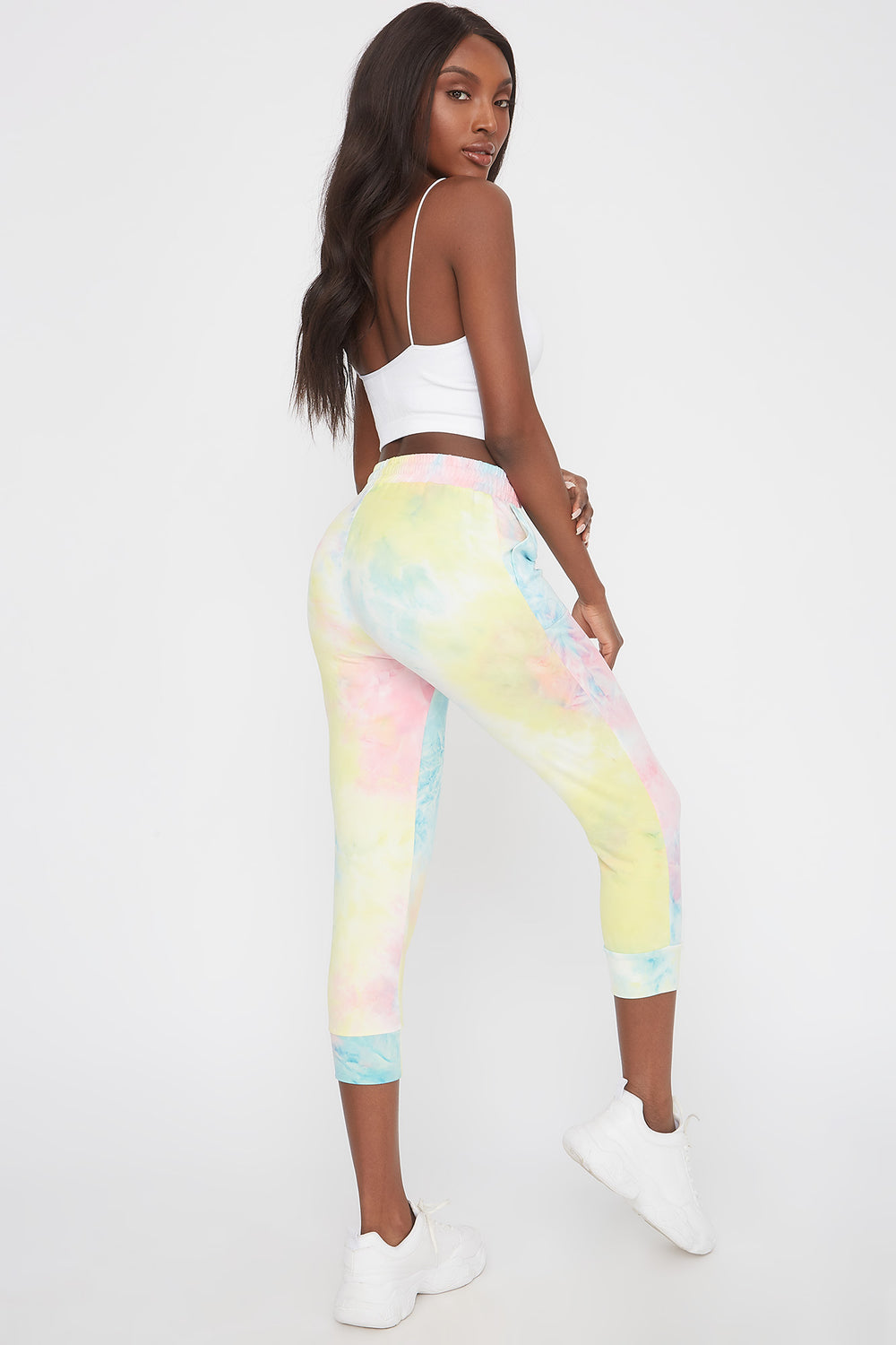 Pantalon de jogging court super doux Multi