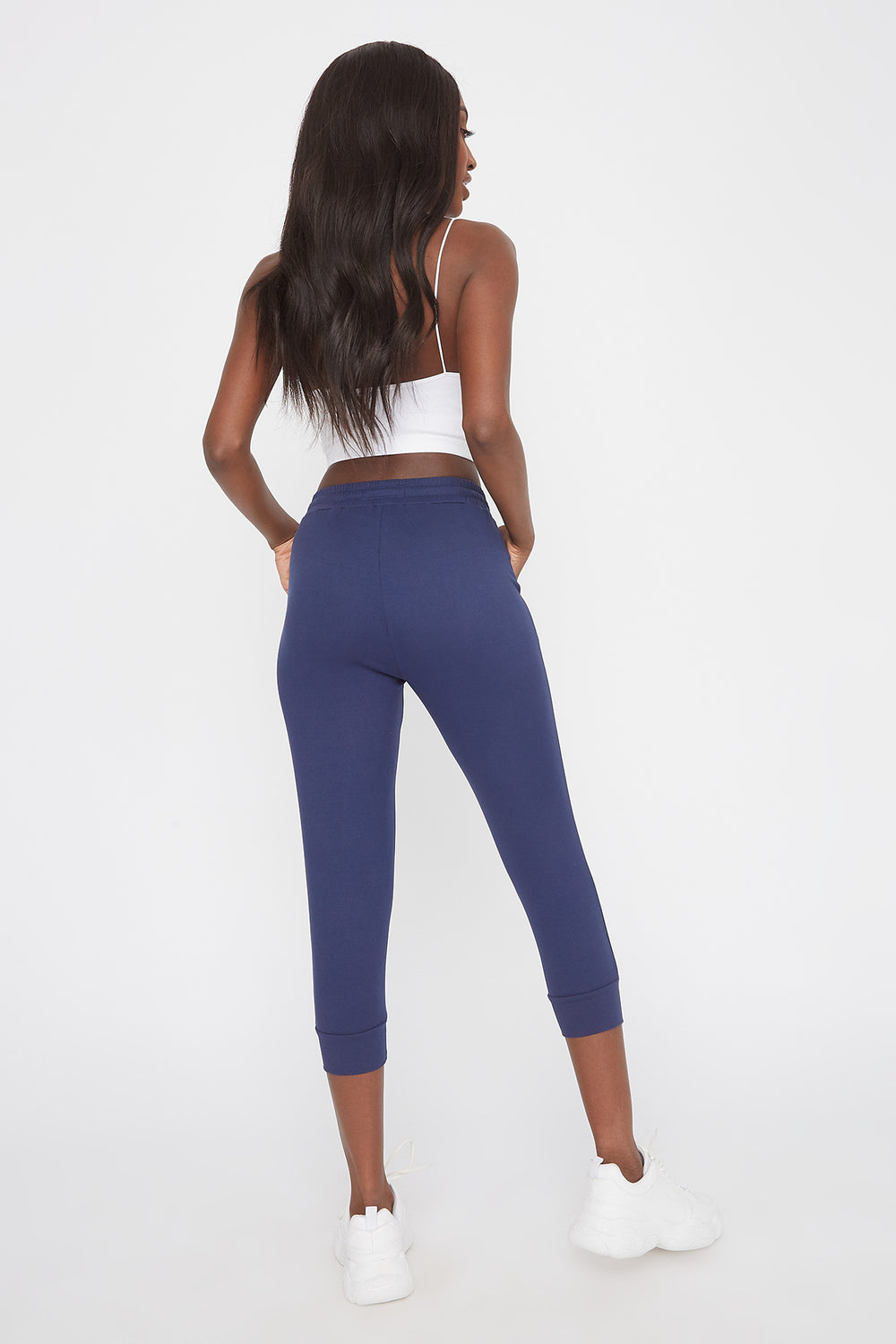 Pantalon de jogging court super doux Marine