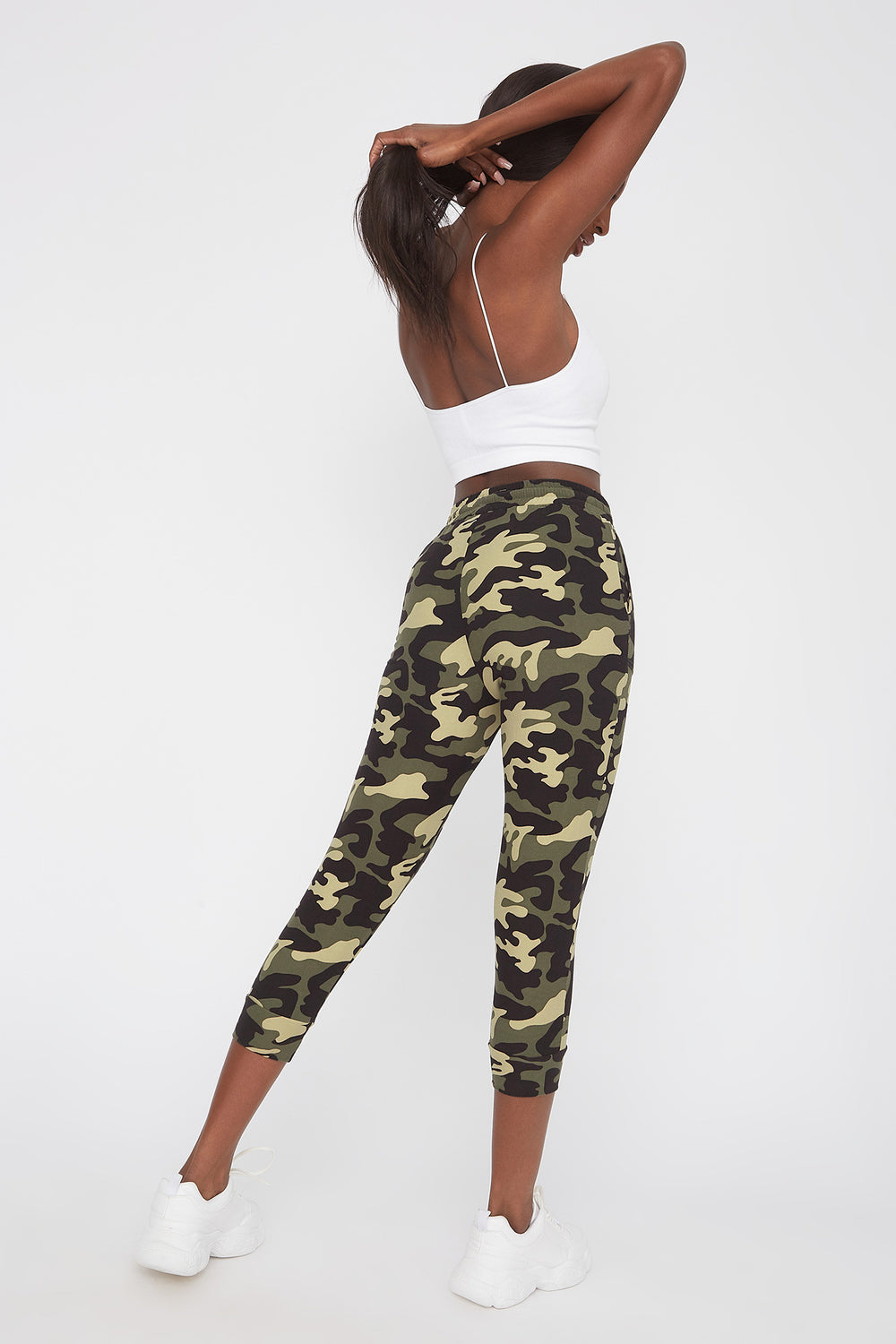 Pantalon de jogging court super doux Camoufle
