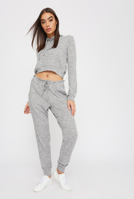 Super Soft Drawstring Brushed Jogger