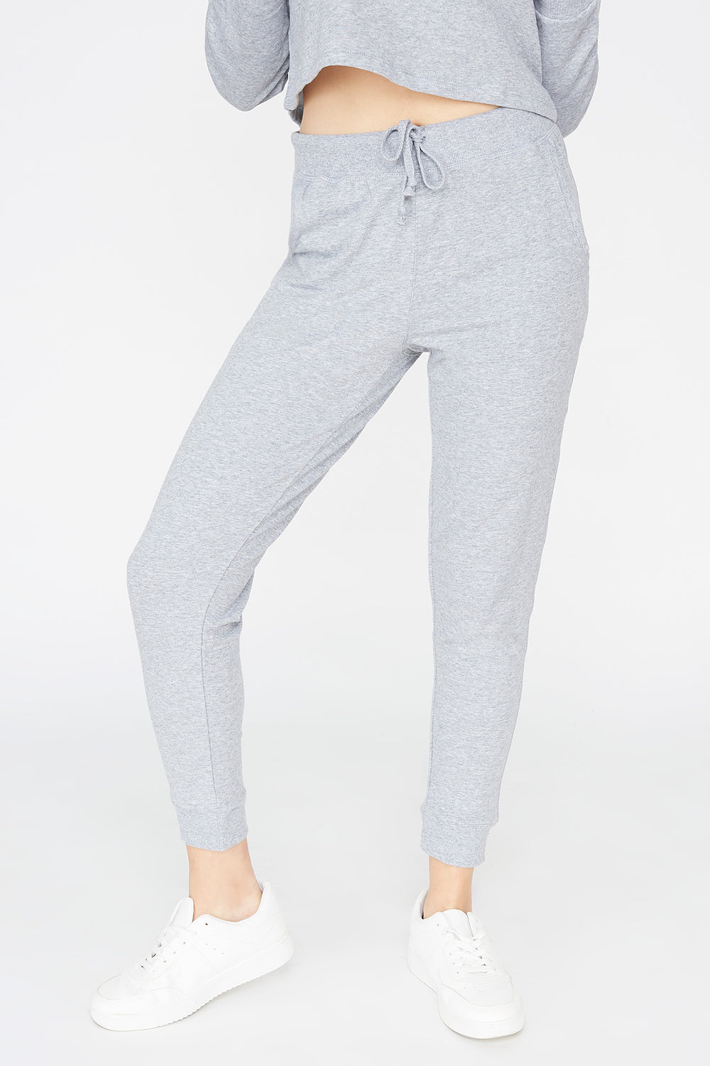 French Terry Jogger Heather Grey