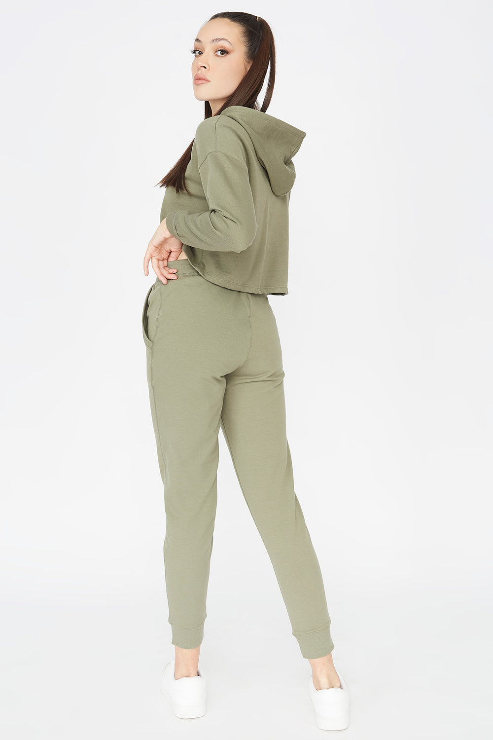 French Terry Jogger Hunter Green