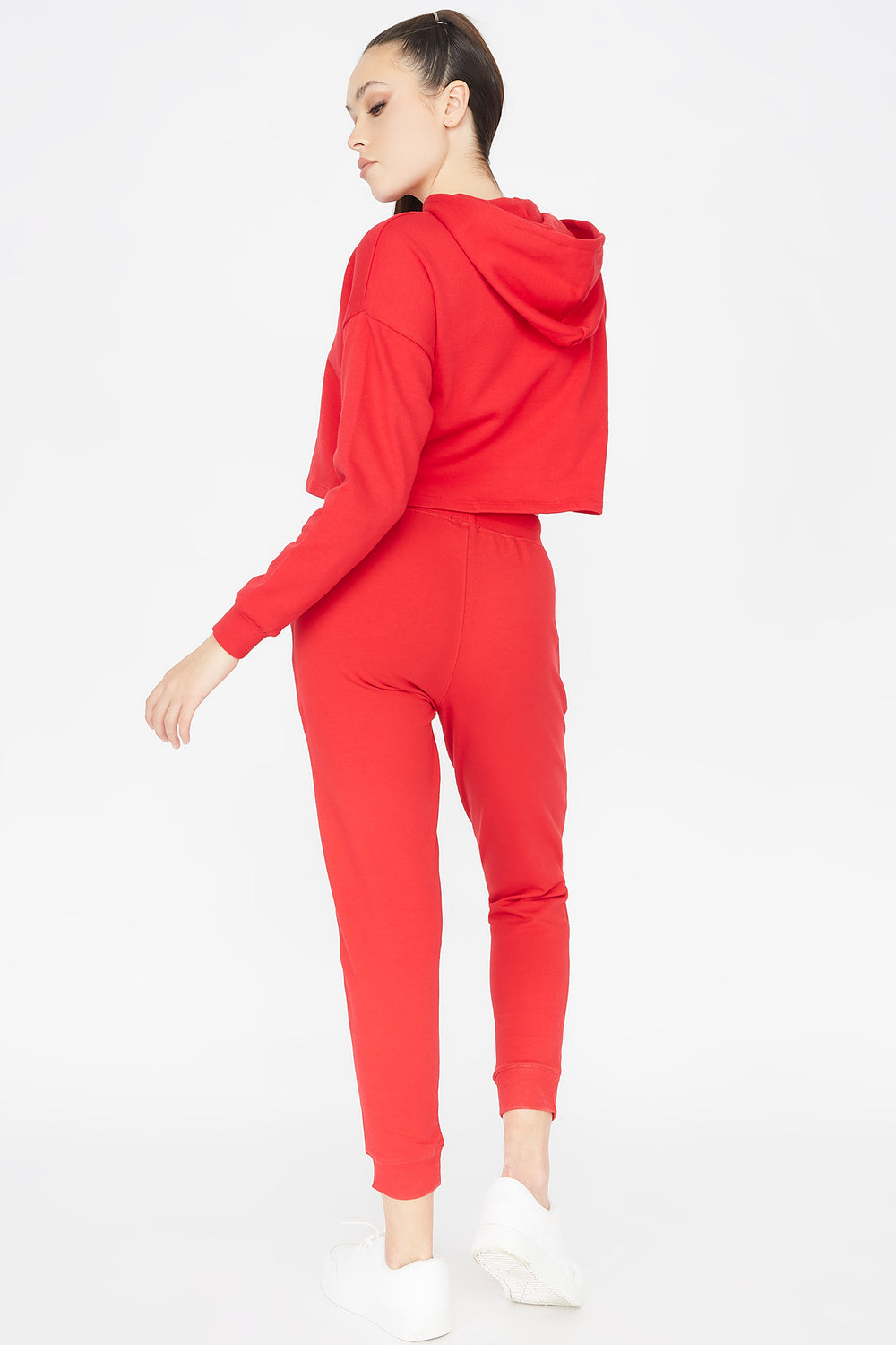 French Terry Jogger Bright Red