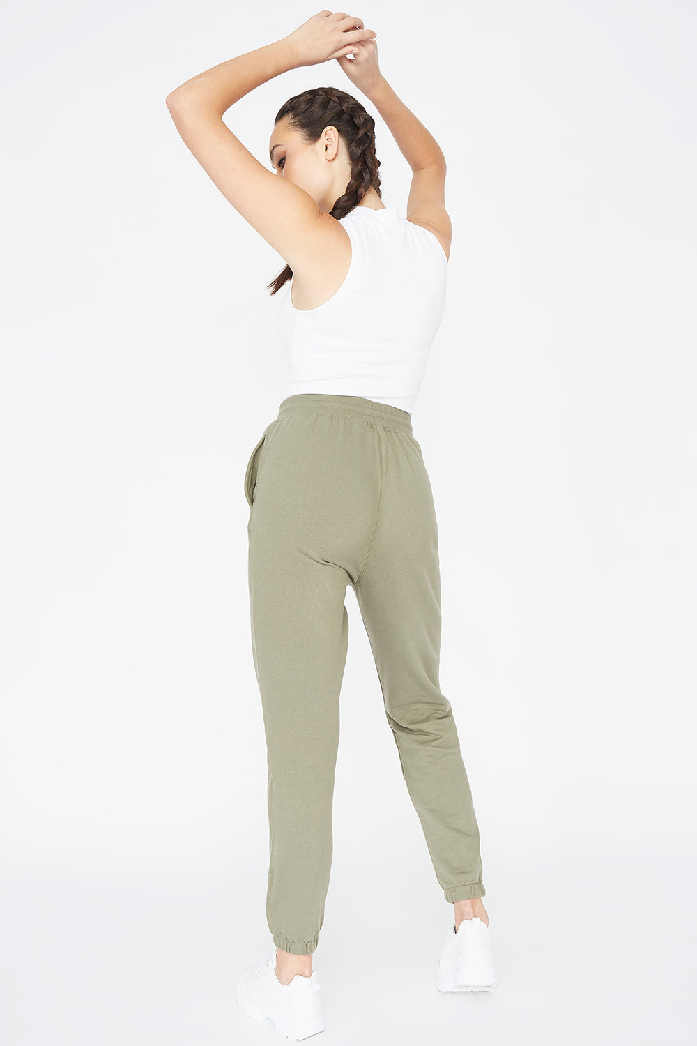 Basic Fleece Drawstring Jogger Hunter Green