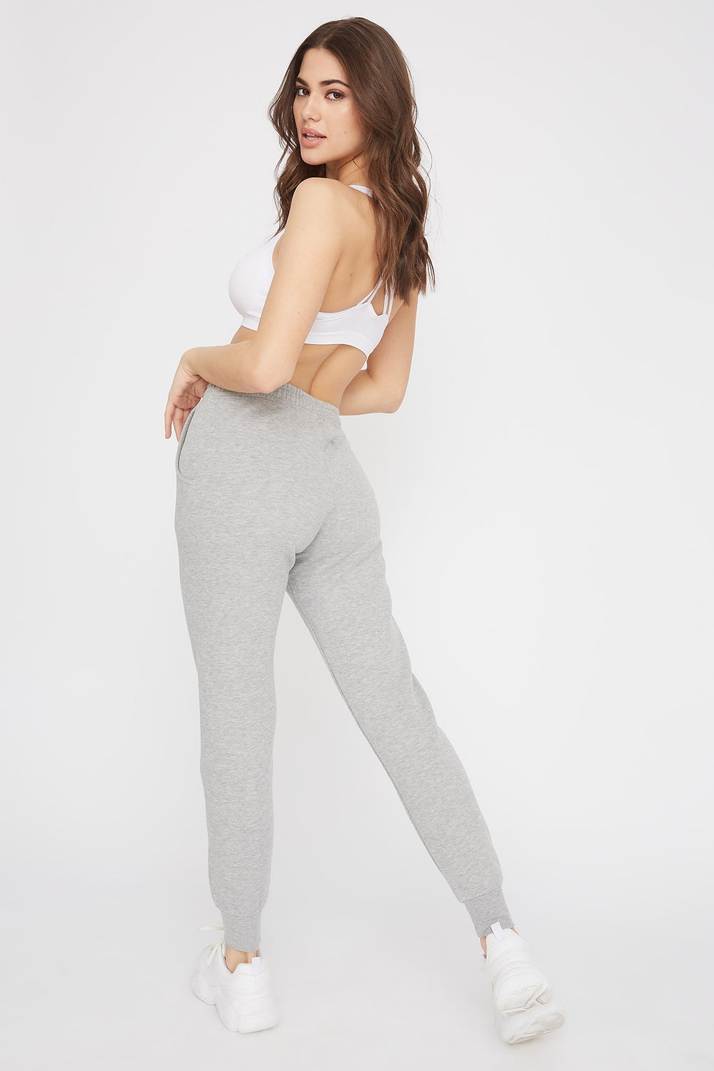 Basic Solid Jogger Heather Grey