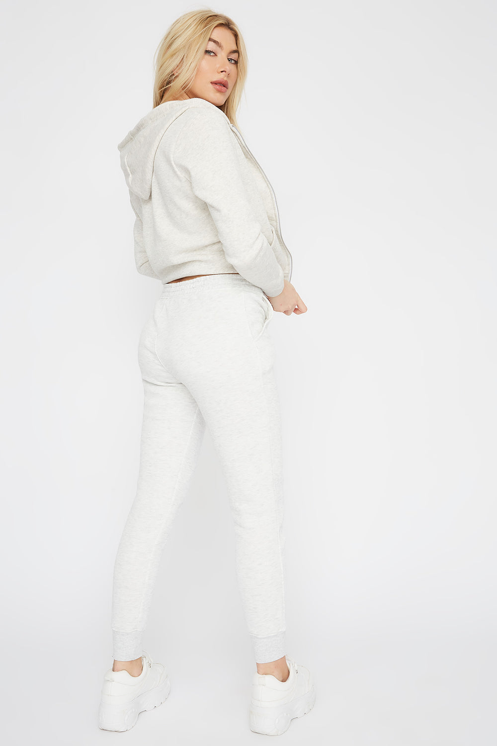 Pantalon de jogging uni de base Naturel