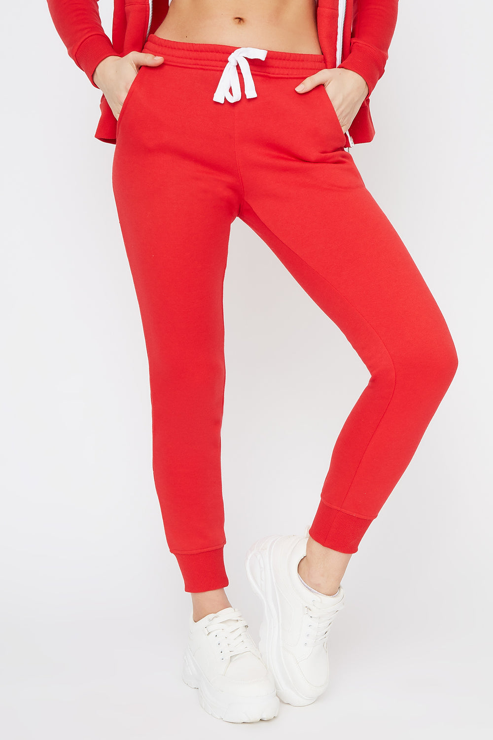Pantalon de jogging uni de base Rouge