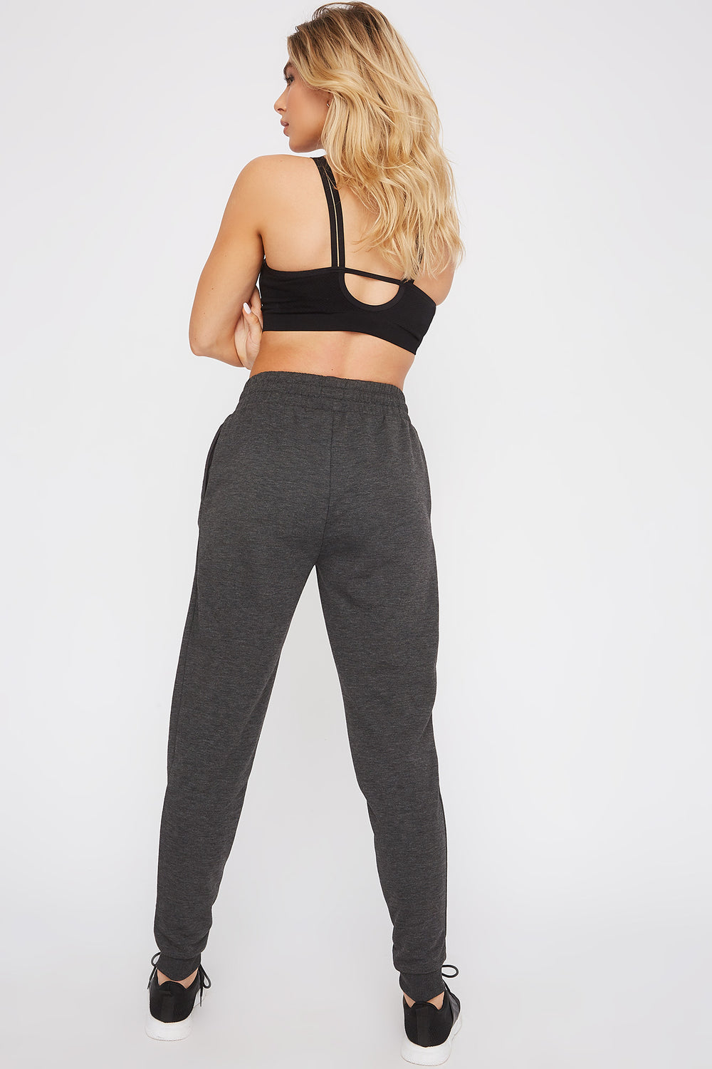 Fleece High-Rise Jogger Charcoal