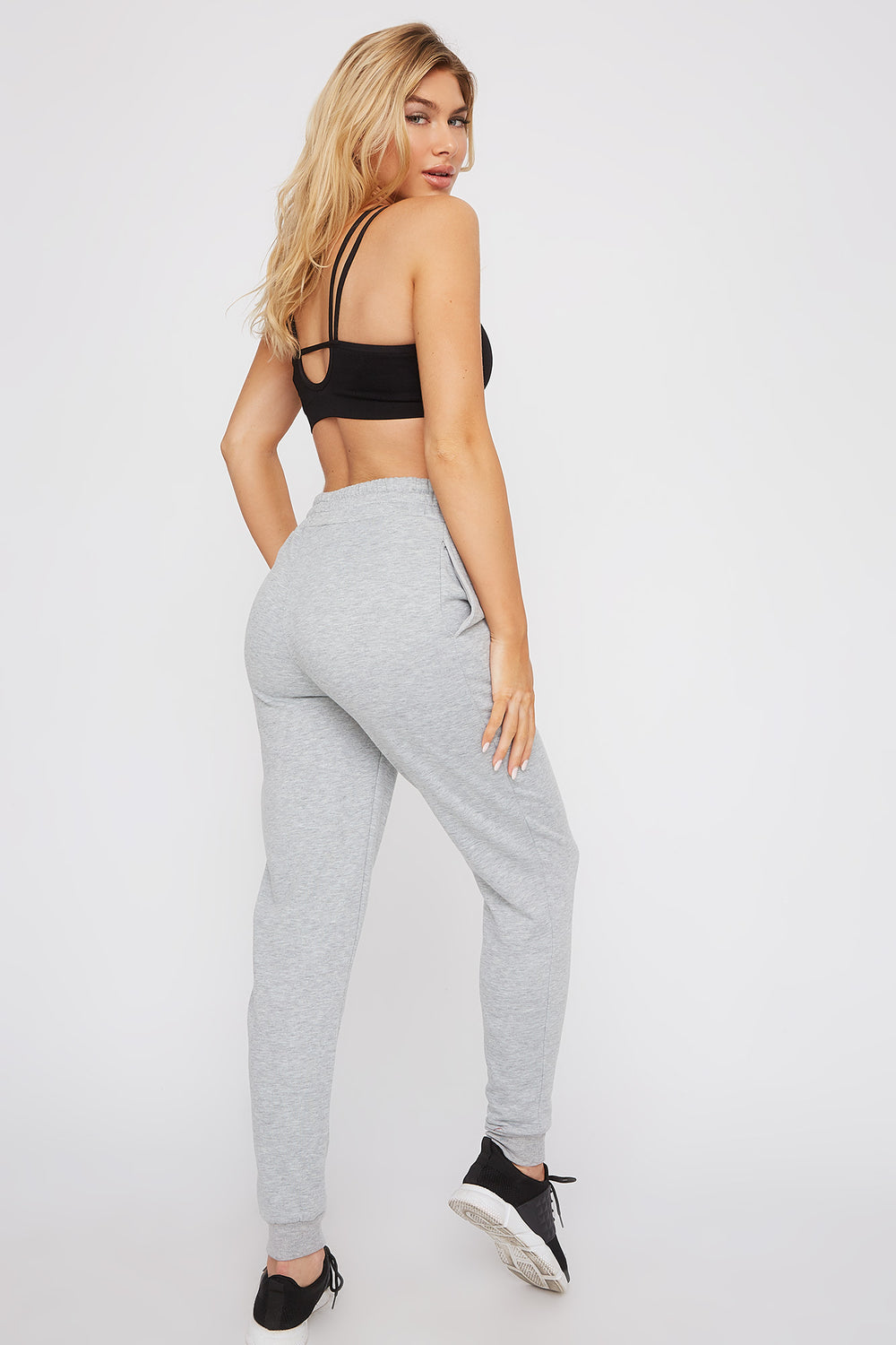 Fleece High-Rise Jogger Heather Grey