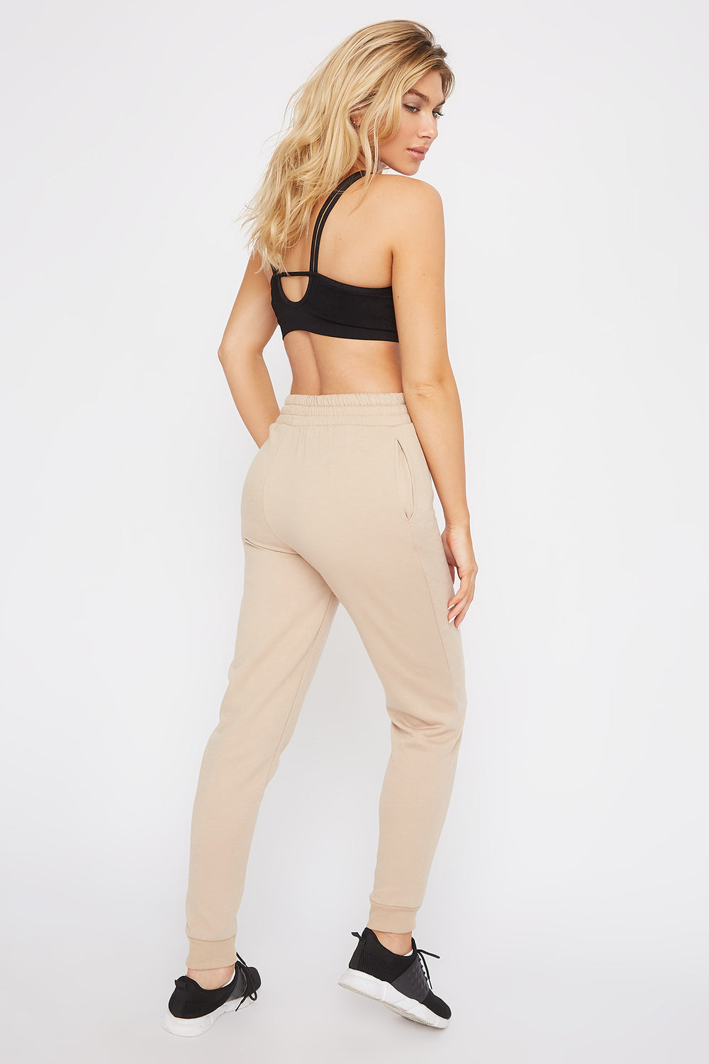 Fleece High-Rise Jogger Sand