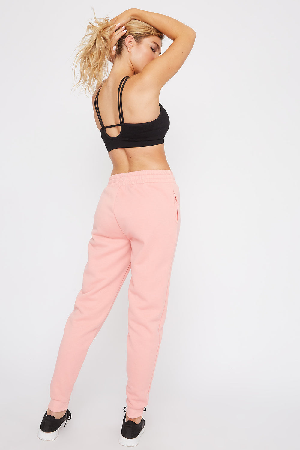 Fleece High-Rise Jogger Light Pink