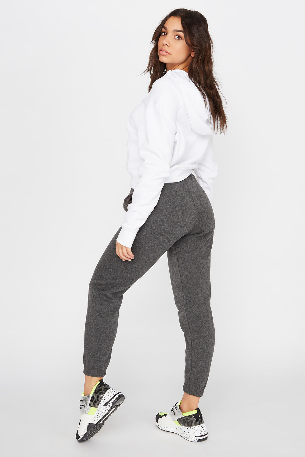 Fleece Boyfriend Jogger Charcoal