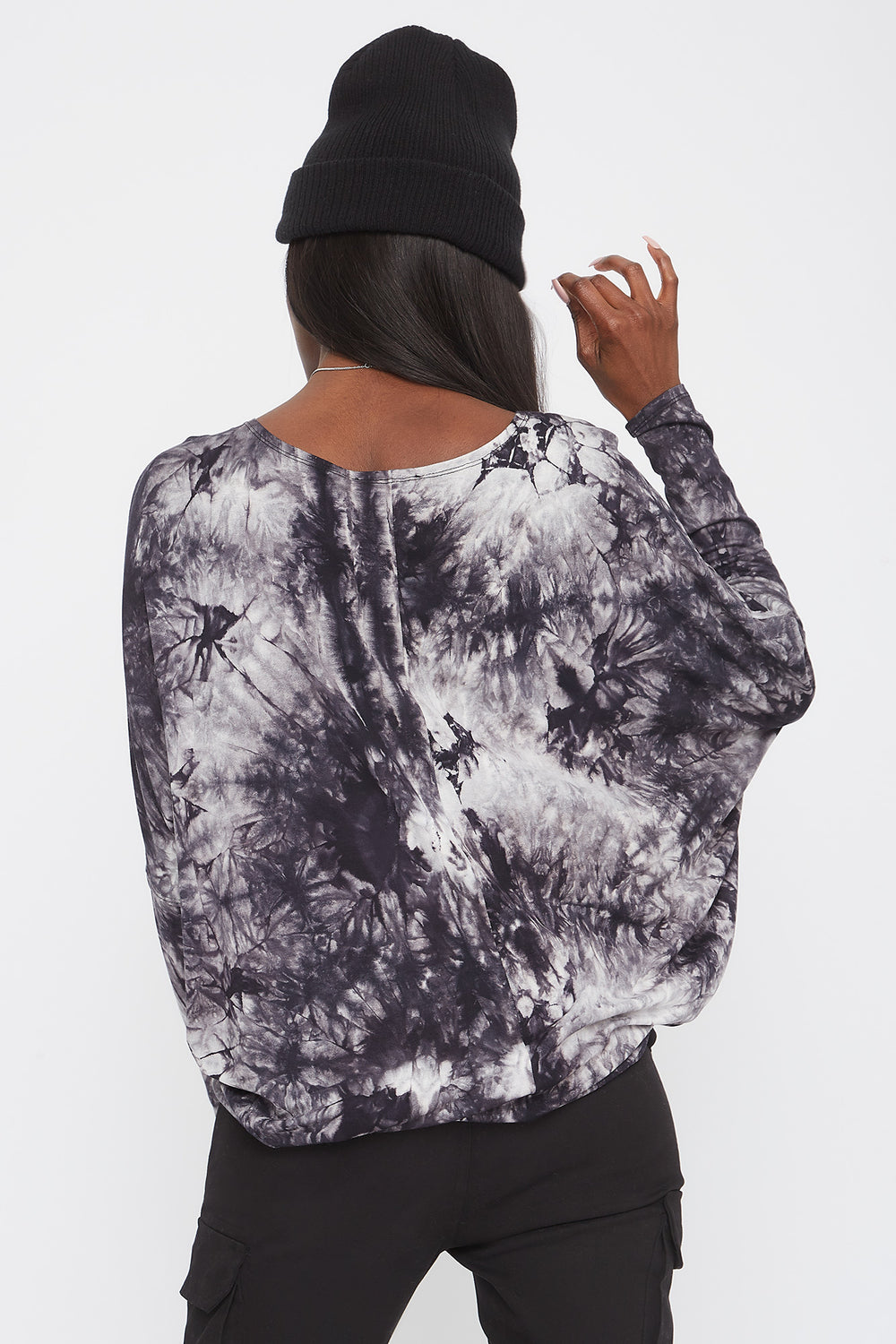 Tie Dye Oversized High-Low Long Sleeve Assorted