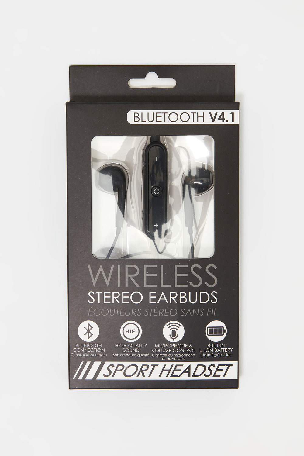 Bluetooth Wireless Stereo Earbuds Black