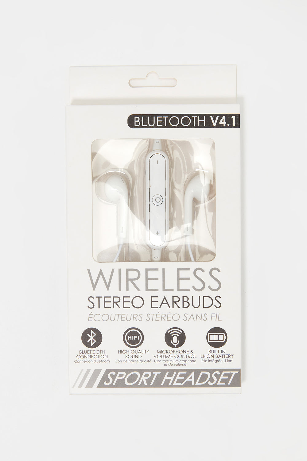 Bluetooth Wireless Stereo Earbuds White
