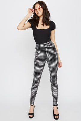Gingham Zipper Legging
