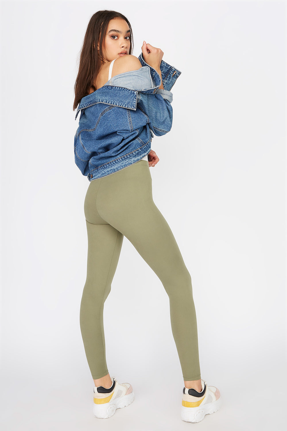 Basic Soft Legging Dark Green