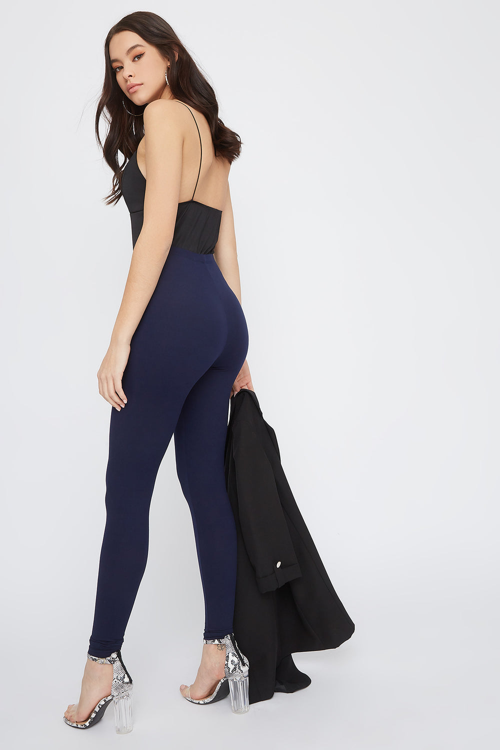 Soft Basic High-Rise Legging Navy