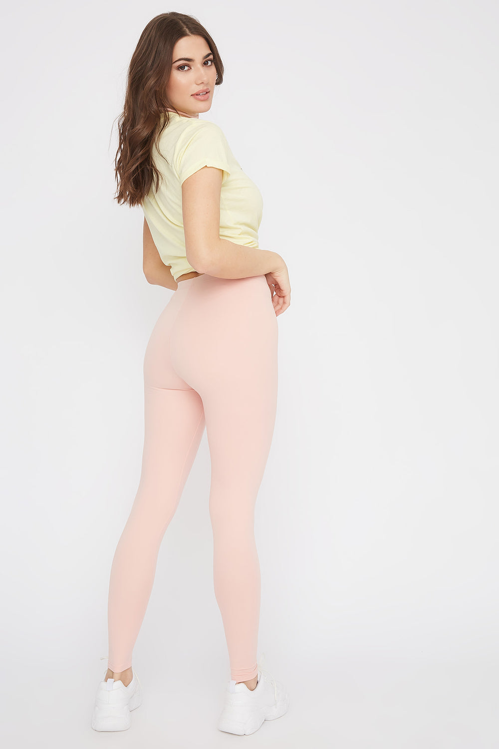 Soft Basic High-Rise Legging Light Pink