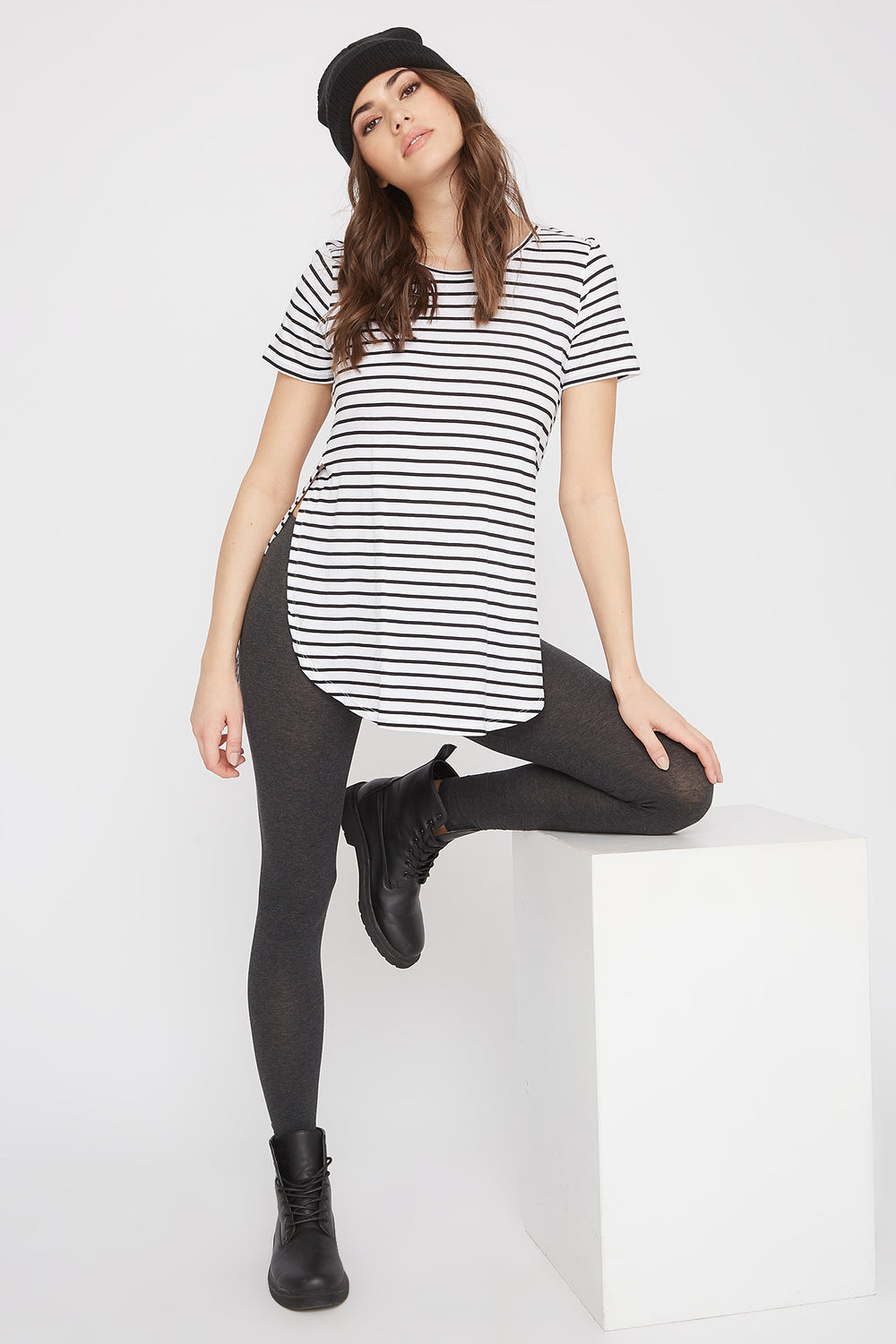 Basic Cotton Legging Charcoal