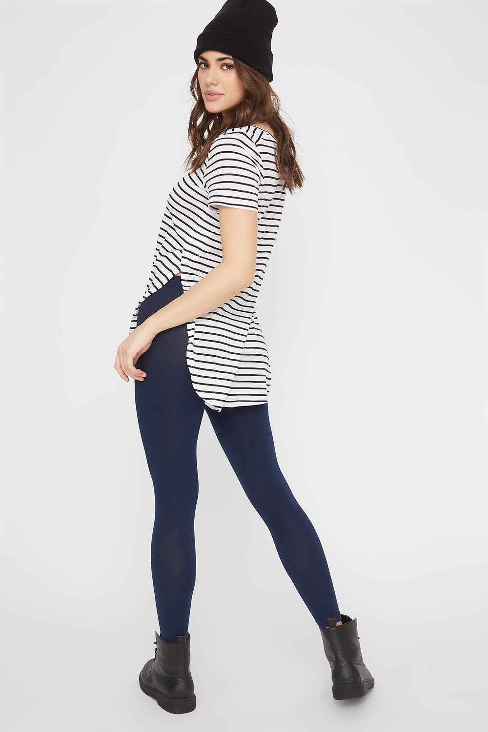 Basic Cotton Legging Navy