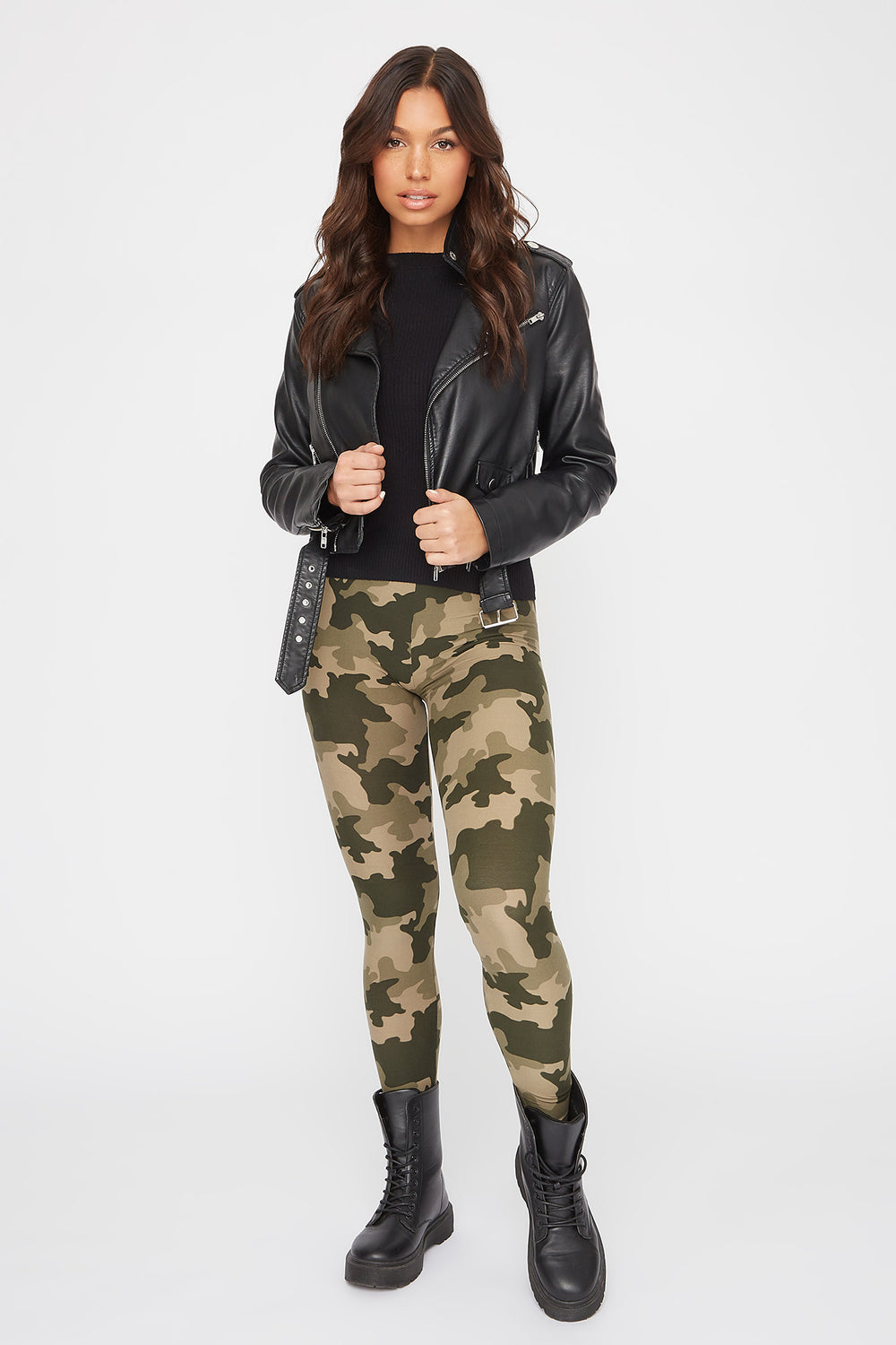 Camo Printed Leggings Camouflage