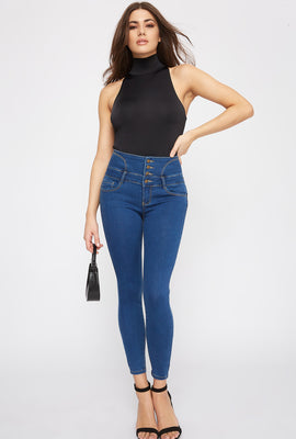 Butt, I Love You Corset Back 4-Tier High-Rise Skinny Jean