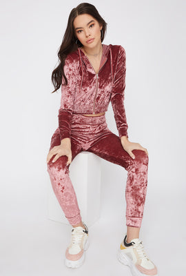 Super Soft Crushed Velvet Pajama Jogger