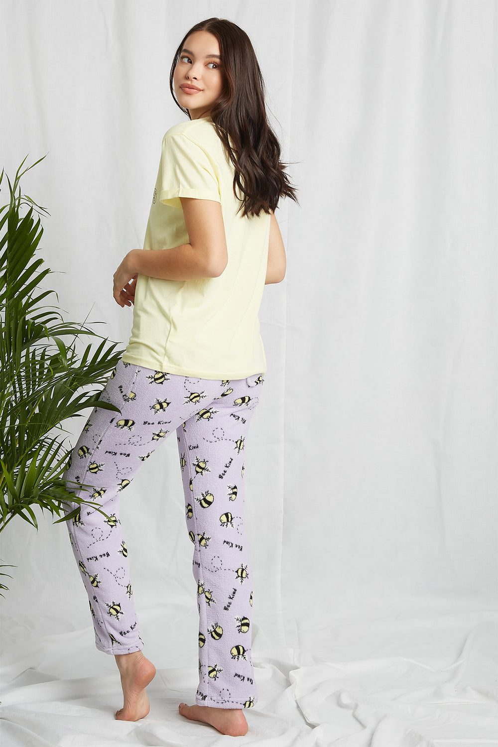 REPREVE® Eco-Friendly Recycled Polyester Graphic Pajama Pant Lilac
