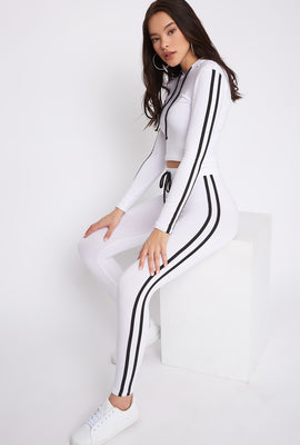 Fleece Side Stripe Legging