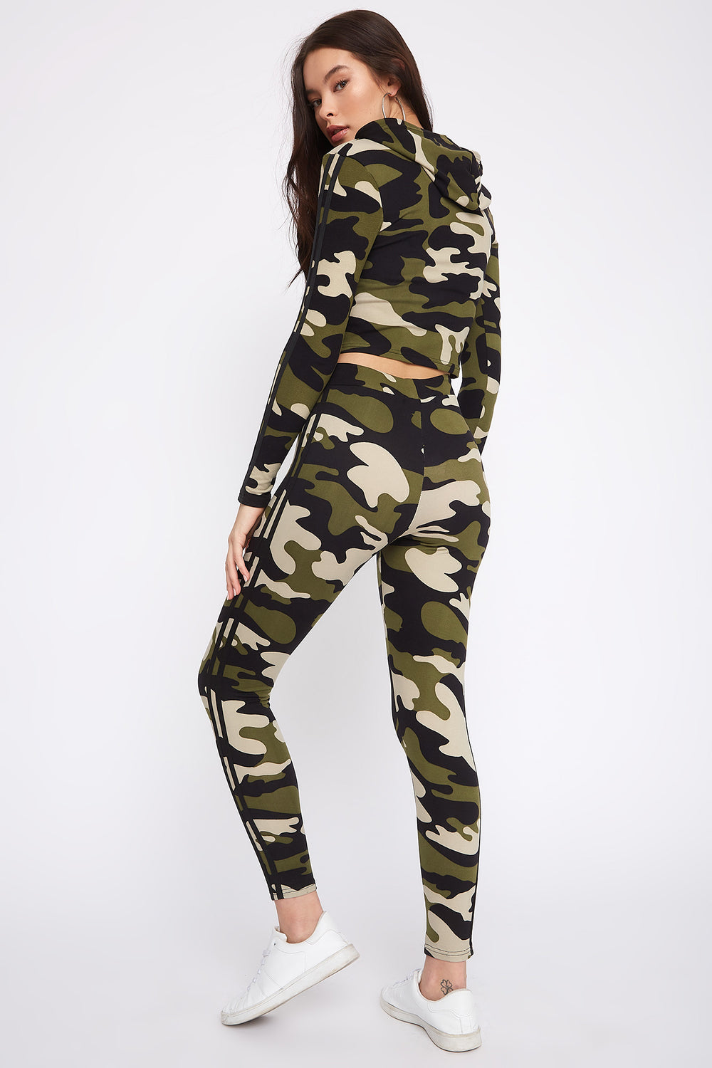 Fleece Side Stripe Legging Camouflage