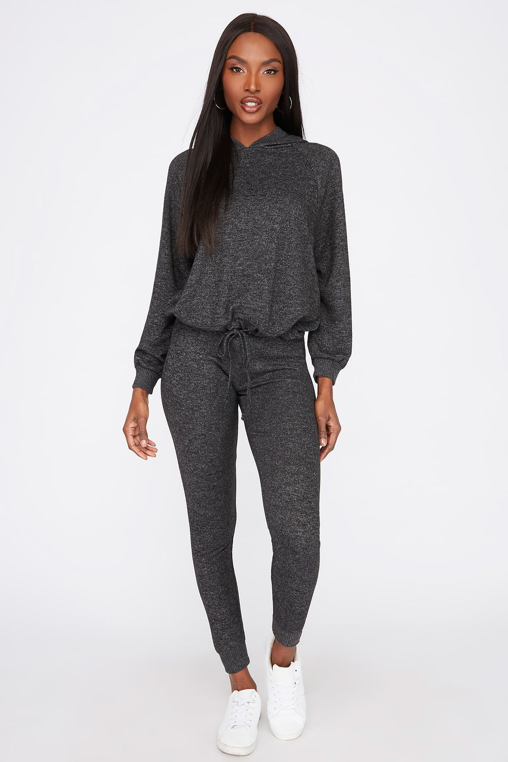 Soft Brushed Drawstring Jogger Charcoal