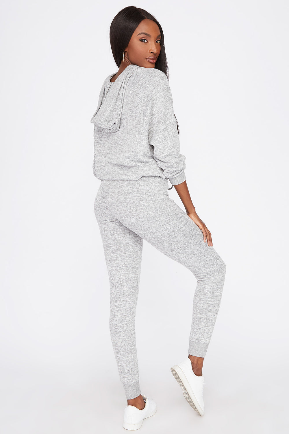 Soft Brushed Drawstring Jogger Heather Grey