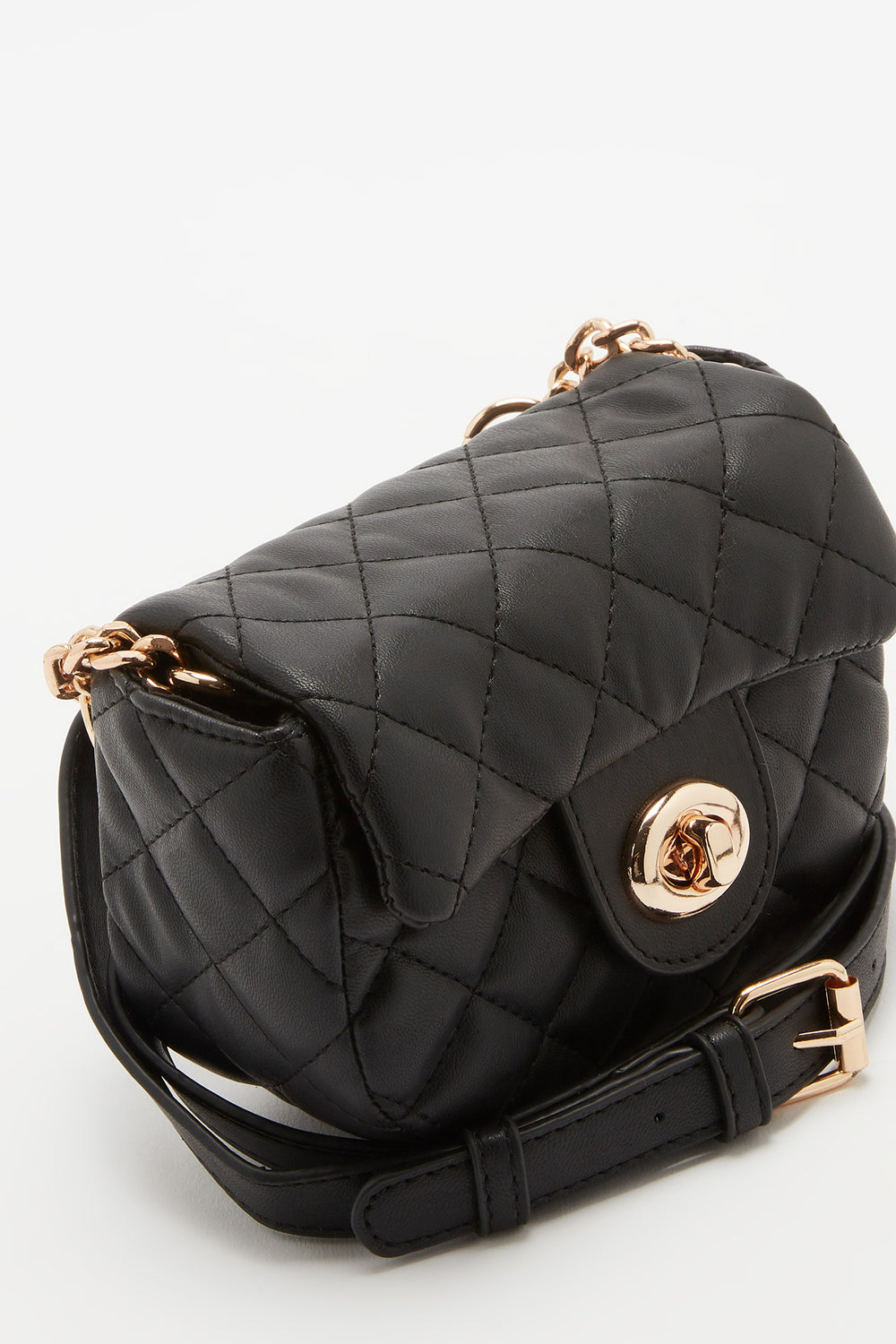 Quilted Belt Bag Black