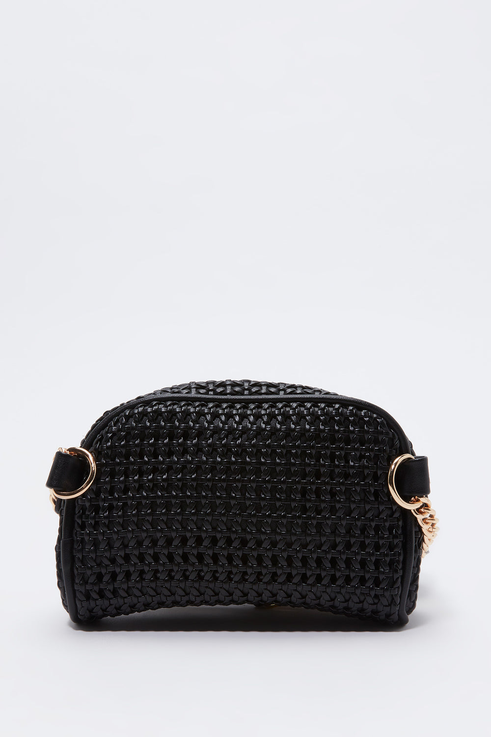 Crossbody Straw Bag Black